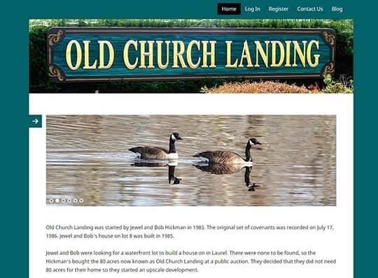 old church landing